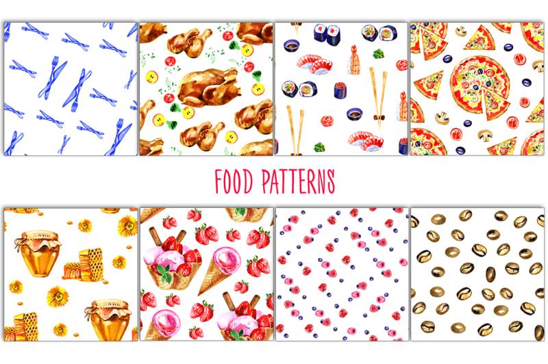 big-watercolor-food-set