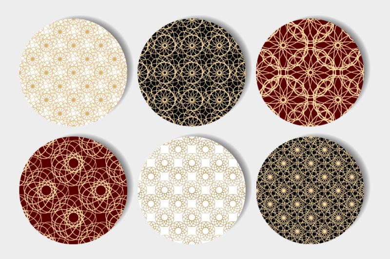 vintage-seamless-patterns-set