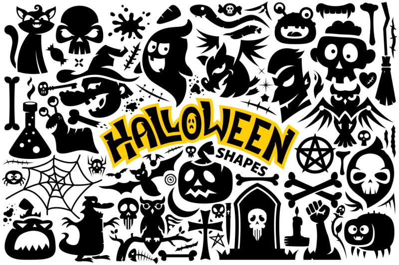 halloween-vector-shapes-collection