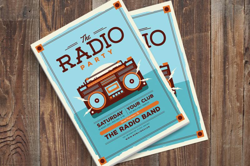 radio-party-flyer