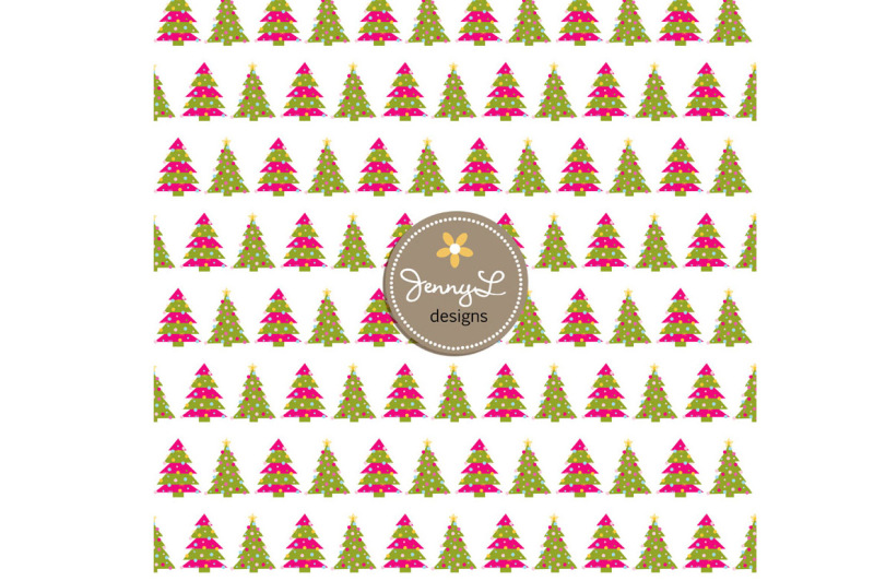 christmas-trees-digital-papers
