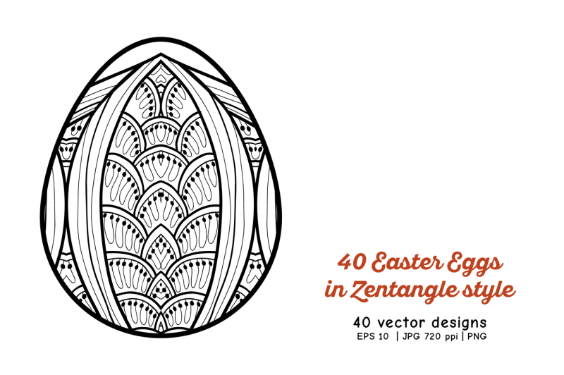 40-easter-eggs-set