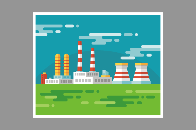 industrial-factory-flat-style-illustration