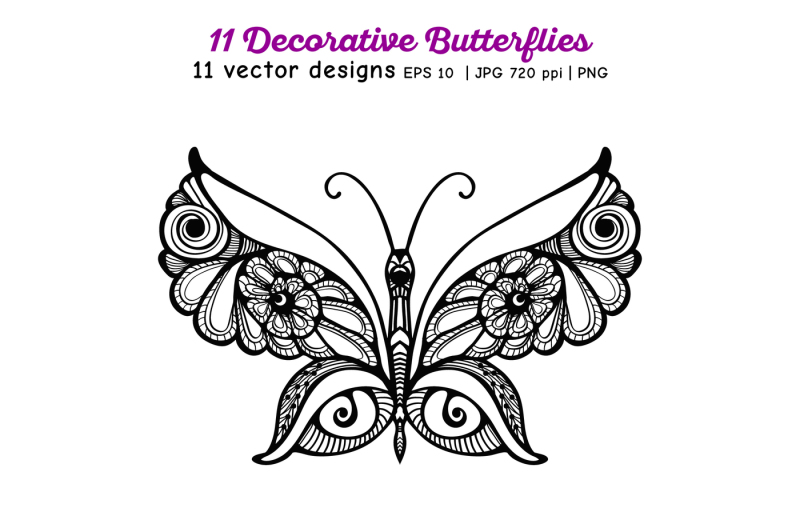 11-butterflies-set