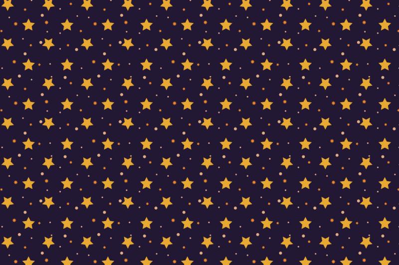 halloween-seamless-patterns-set