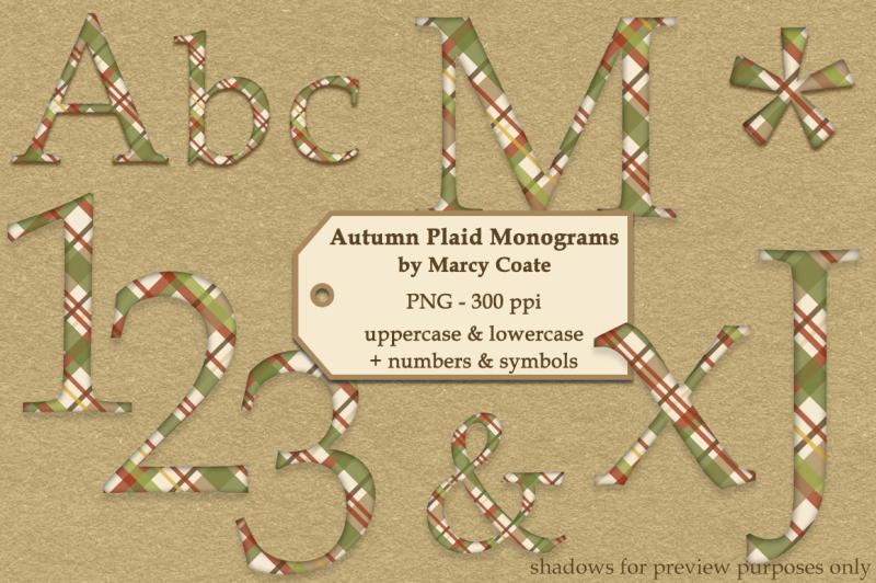 autumn-plaid-monograms-alphas-set