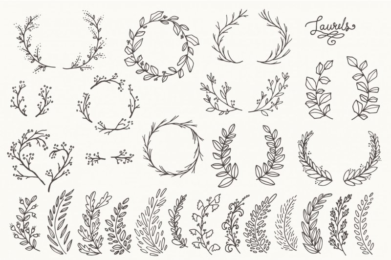 whimsical-laurels-and-wreaths-clip-art