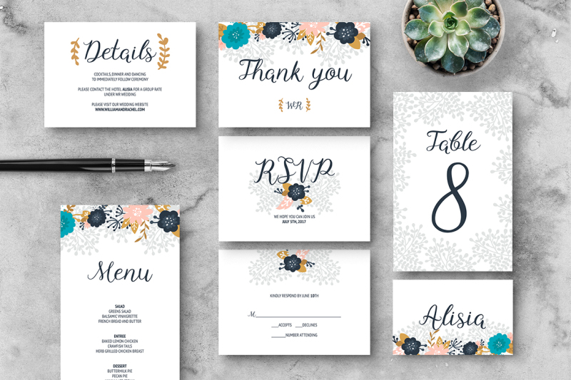 floral-wedding-invitation-suite