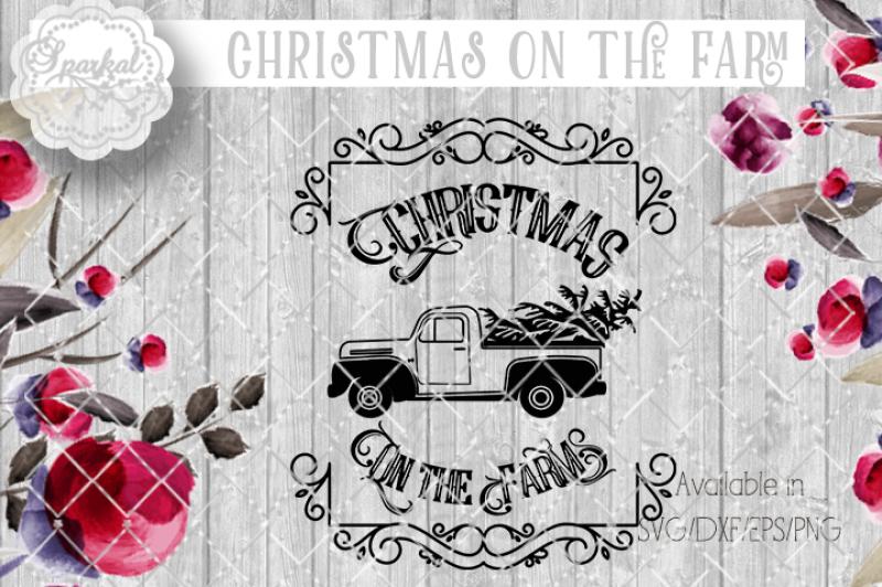 vintage-christmas-sign-cut-file