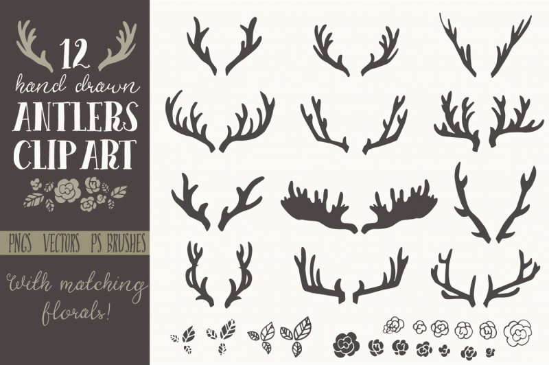hand-drawn-antlers-clip-art-and-vectors