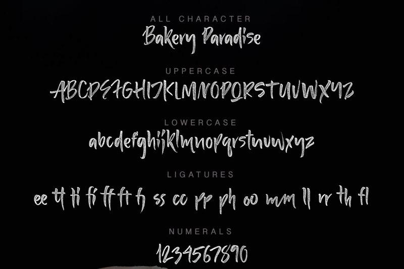 bakery-paradise-handwritten-font