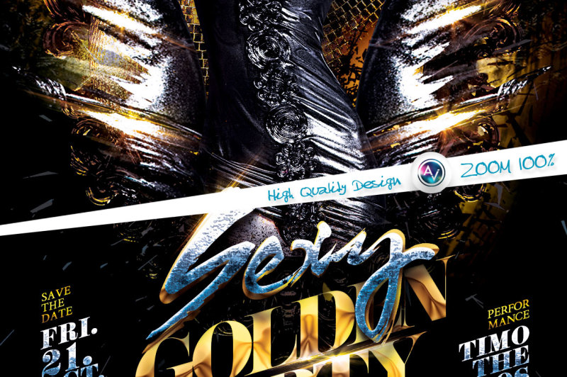 sexy-golden-party-flyer-template