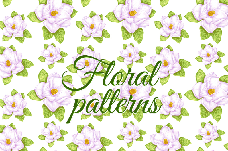floral-patterns-with-magnolia