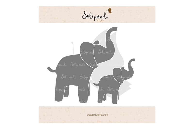 elephant-family-svg-and-dxf-cut-files