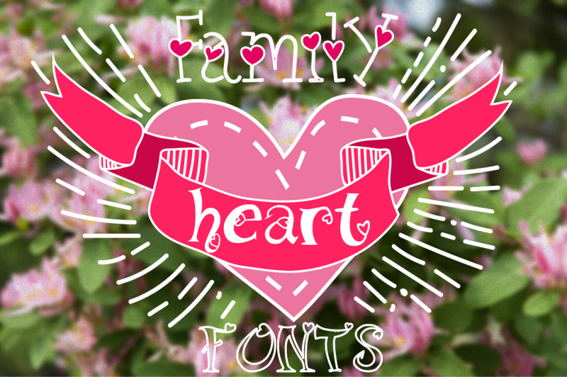 family-fonts-with-hearts
