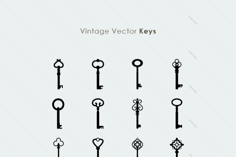 15-vintage-retro-vector-keys
