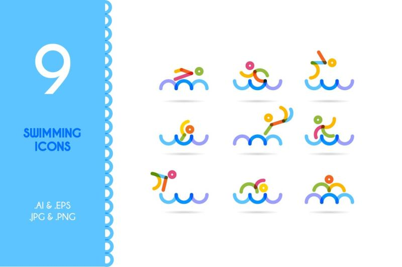 swimming-swimming-man-icons