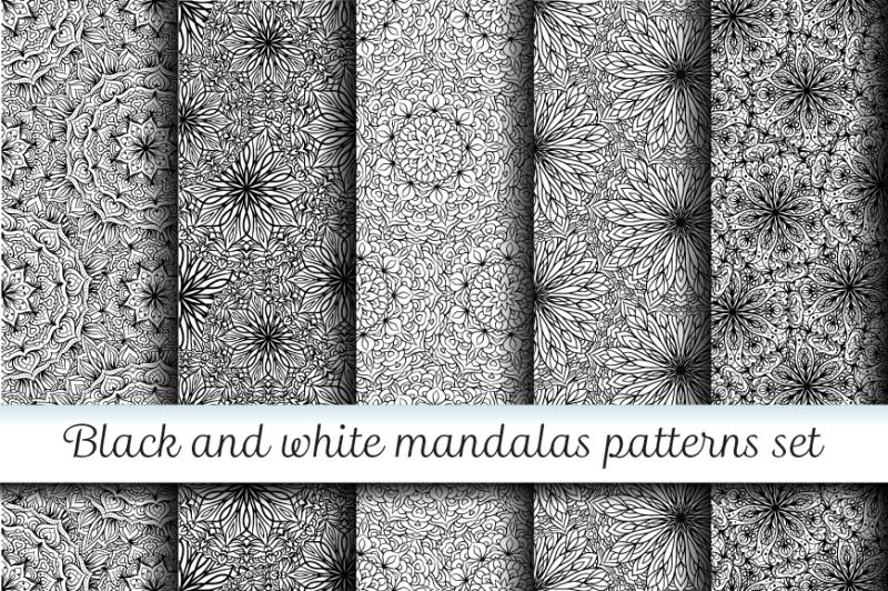 5-black-and-white-mandalas-patterns