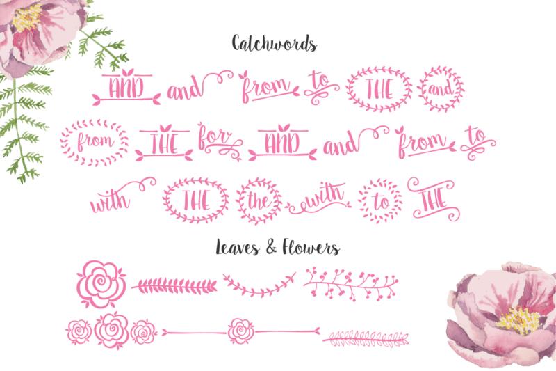 sugar-plums-hand-drawn-script