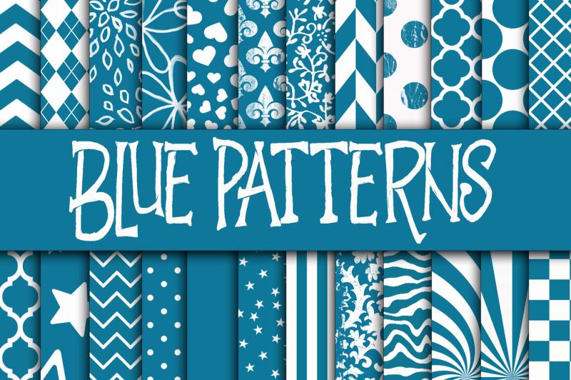 blue-patterns-digital-paper