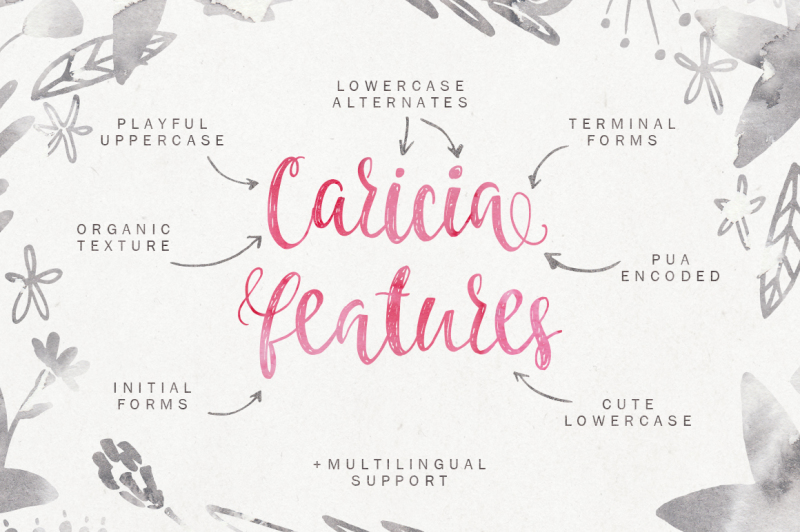 caricia-handdrawn-font