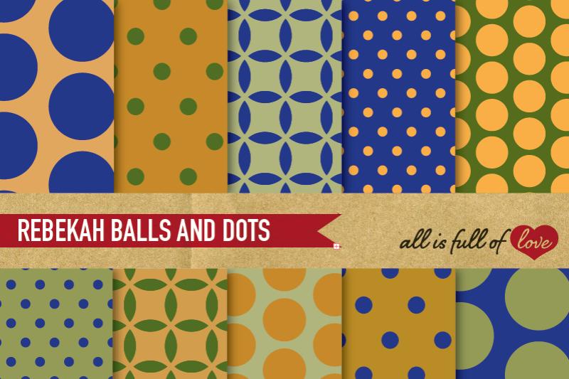army-balls-and-dots-digital-paper-set