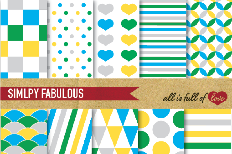 grey-yellow-blue-and-green-digital-paper-pack