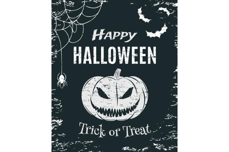 grunge-happy-halloween-poster