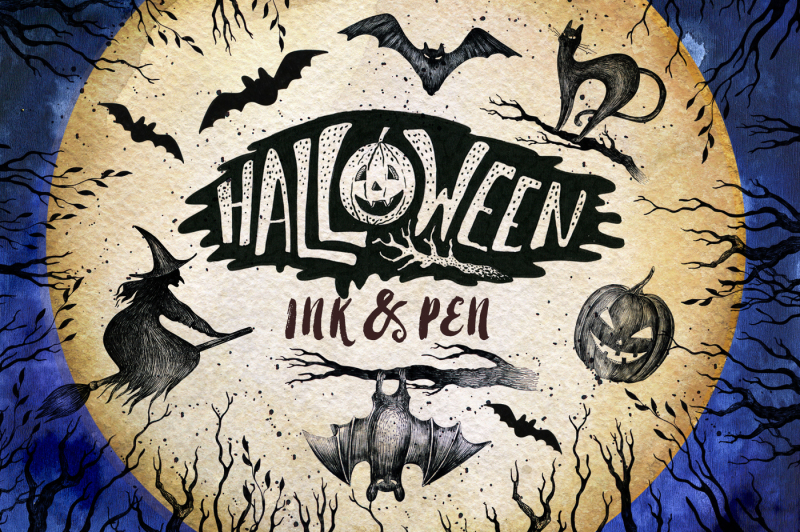 halloween-ink-and-pen-collection