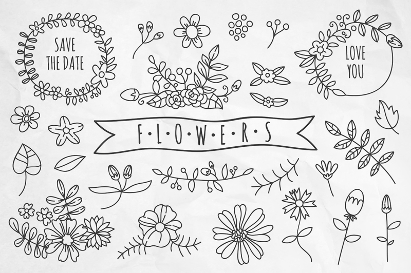 hand-drawn-flowers-and-wreaths