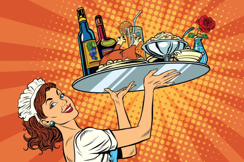beautiful-young-woman-waitress-in-a-restaurant