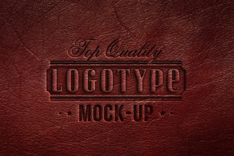 5-mock-ups-logotype-embossed-on-different-leather-textures