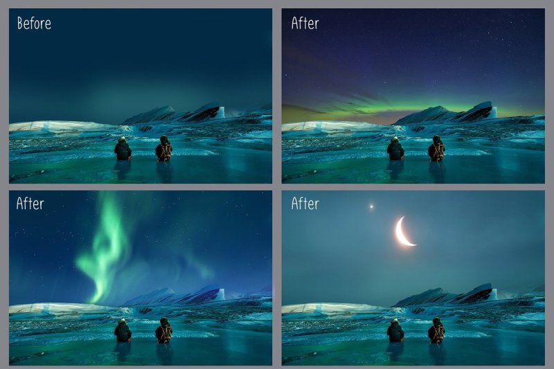 100-night-sky-overlays