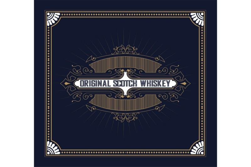 vintage-label-design-for-whiskey-and-wine-label-restaurant-banner-beer-label-vector-illustration