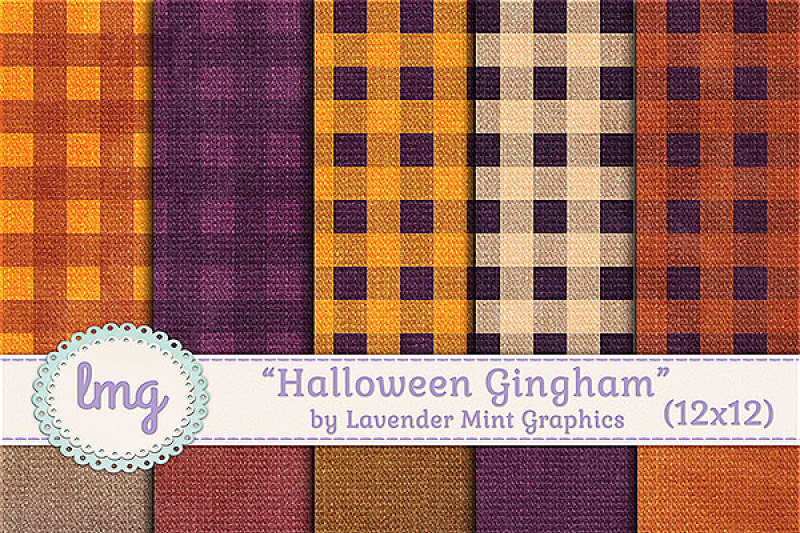 halloween-gingham-pattern-backgrounds