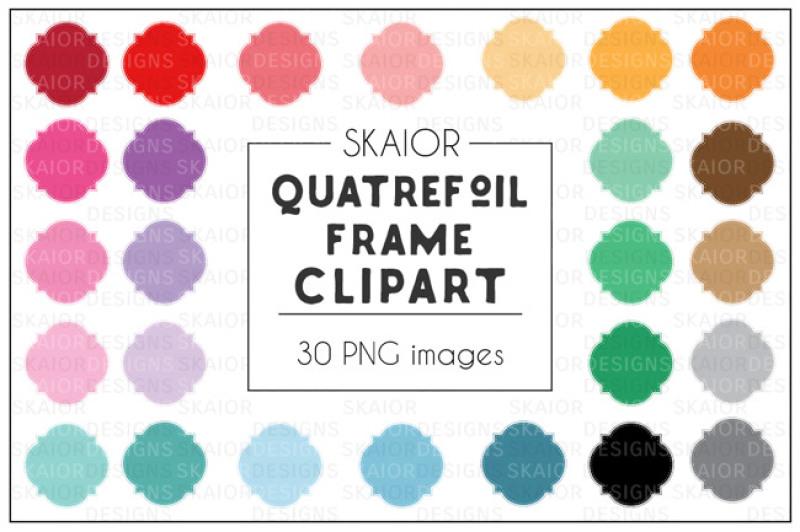 rainbow-quatrefoil-stitched-frames-clipart