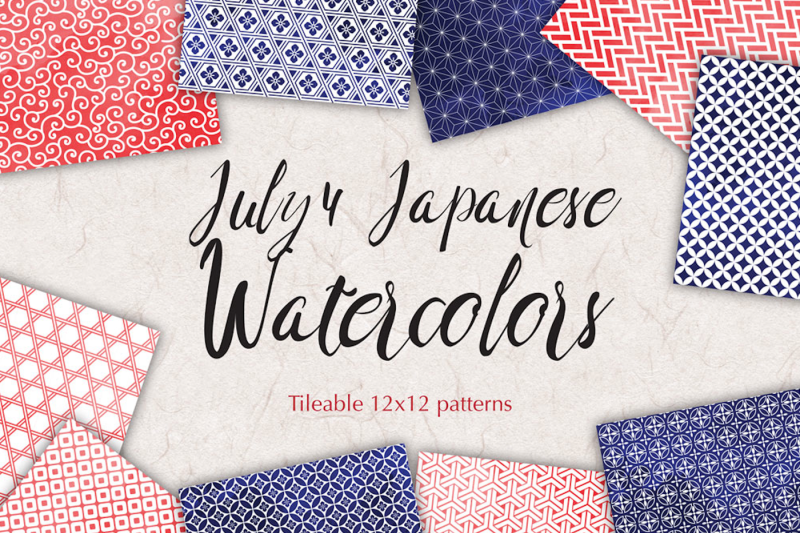 july-4-watercolor-patterns-geometric-backgrounds