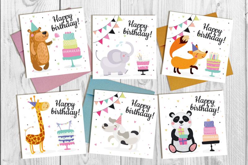 vector-birthday-set