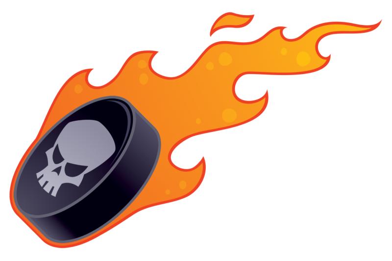 flaming-hockey-puck
