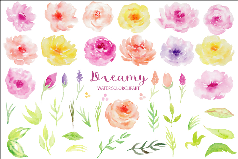 watercolor-clipart-dreamy-collection