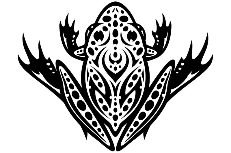 tribal-leopard-frog-tattoo