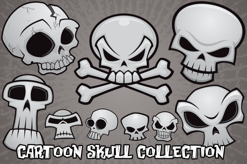 cartoon-skull-collection