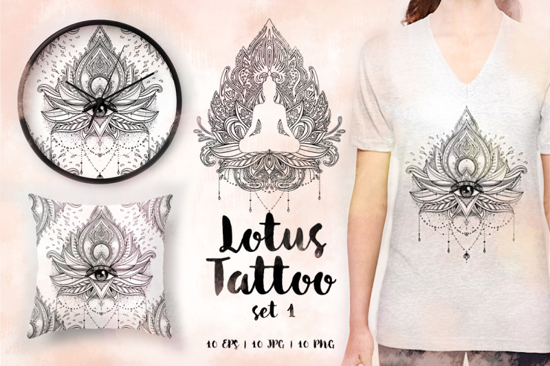 lotus-tattoo-design-set-vol-1