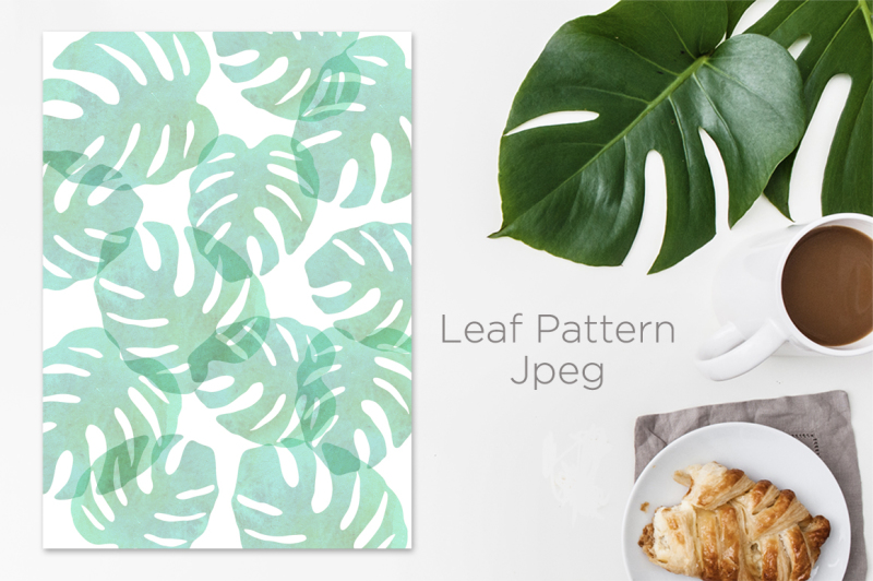 monstera-leaf-and-rose-gold