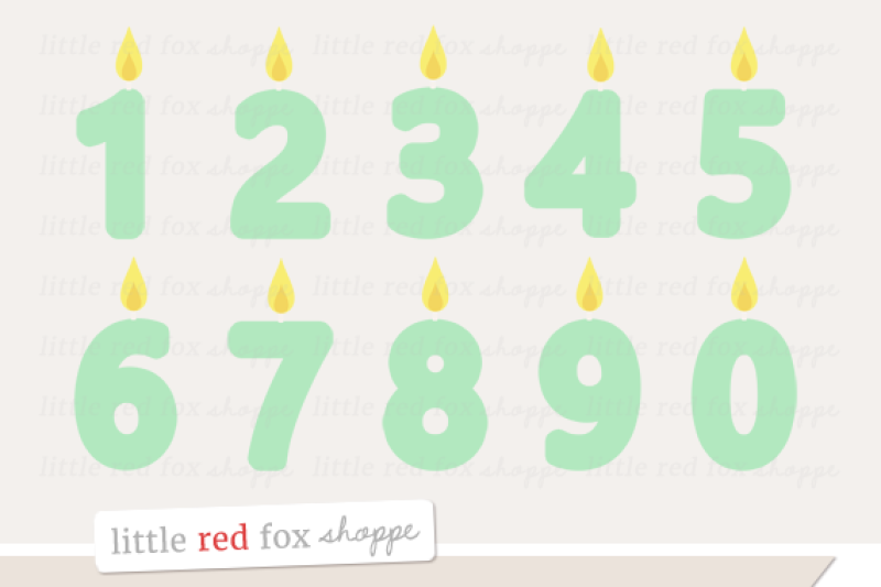 number-candle-clipart