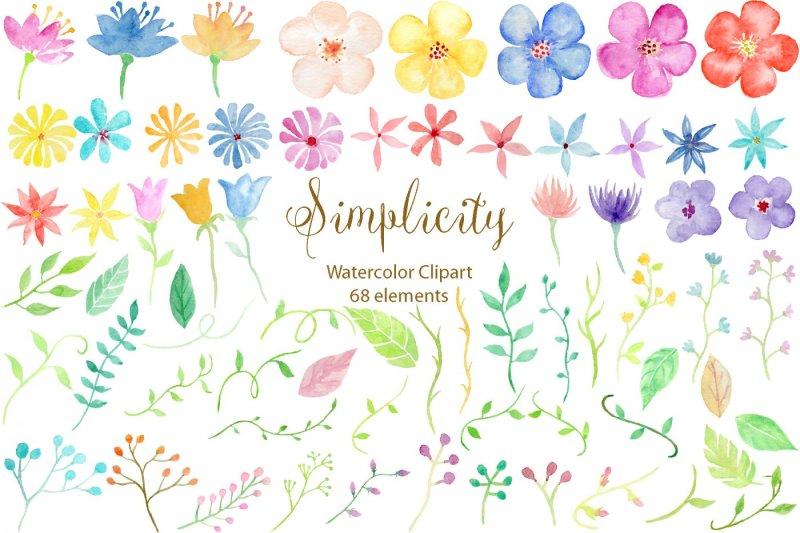 watercolor-clipart-simplicity