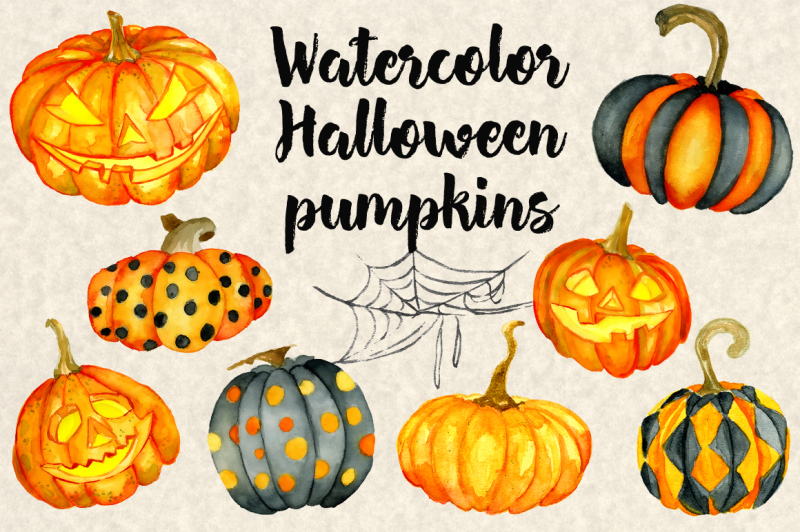 halloween-watercolor-pumpkins