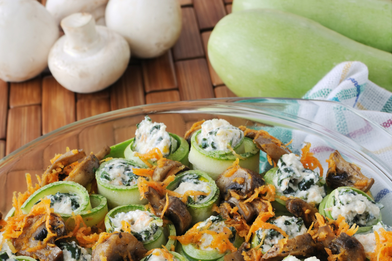 baked-rolls-stuffed-zucchini-with-ricotta-and-spinach-and-mushrooms