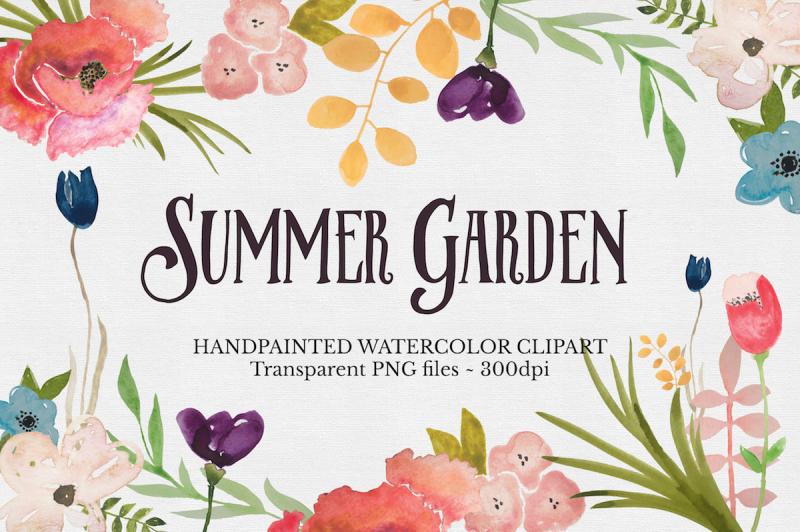 watercolor-flower-clipart-set