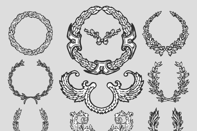 vintage-set-of-design-elements